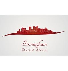 Birmingham AL skyline in red vector image vector image