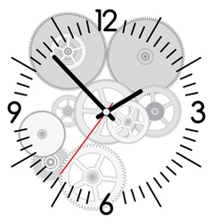 Clock and gears vector