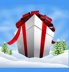 giant christmas gift vector image vector image