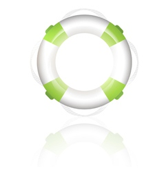 green lifebuoy vector image