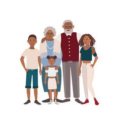 happy african american family portrait vector image vector image