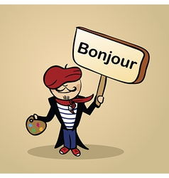 Hello from france people vector image