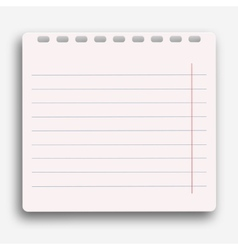 modern notebook on white background vector image vector image