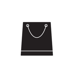 store and shopping bag solid icon modern sign vector image