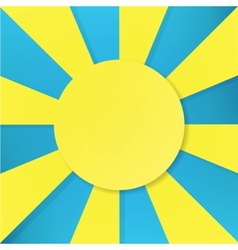 sun symbol on blue background vector image