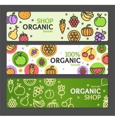 Eco Shop Banner Horizontal Set vector image vector image
