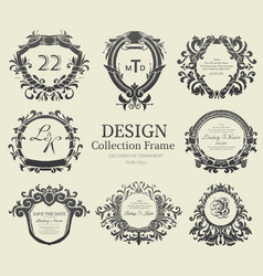 luxury label or king place symbol element with vector image