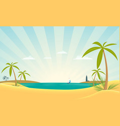 paradise bay vector image vector image