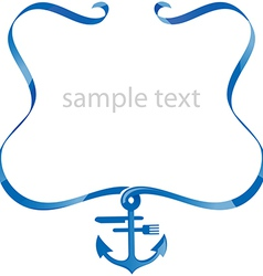 sea food background with ribbon vector image vector image