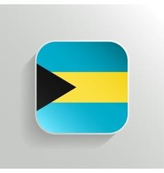 Button - Bahamas Flag Icon vector image vector image