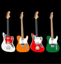 guitar set vector image vector image