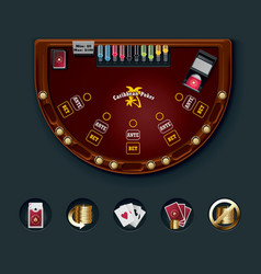 poker table layout vector image