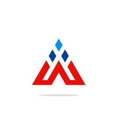 triangle construction technology logo vector image vector image