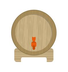 wine barrel faucet wooden vector image vector image