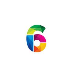 6 colorful letter logo icon design vector