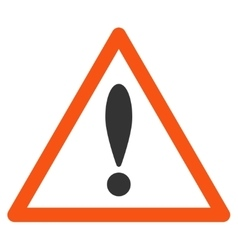 Attention Triangle Flat Icon vector