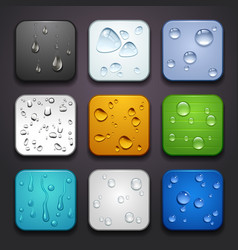 Background for the app icons-water drop part vector