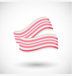 bacon flat icon vector image