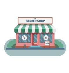 Barber shop in town vector