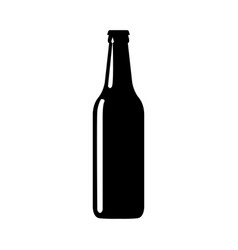 beer bottle black silhouette vector image