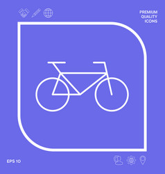 bicycle line icon graphic elements for your vector image