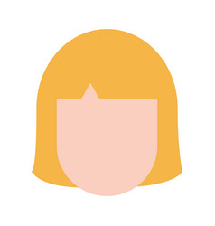 Blonde woman avatar icon image vector