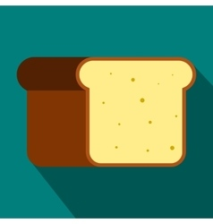 Bread icon in flat style vector image