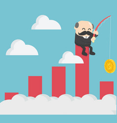 businessmen are happy to profit from stock vector image