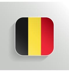 Button - Belgium Flag Icon vector image