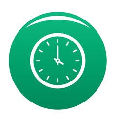 Clock time icon green vector