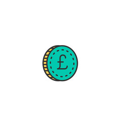 coin icon line design business icon design vector image