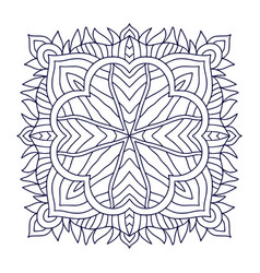 Coloring book page print black and white vector