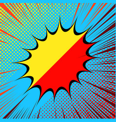 Comic separated bright concept vector
