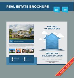 Corporate modern brochure design template vector