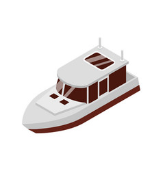 Cruiser boat isometric composition vector