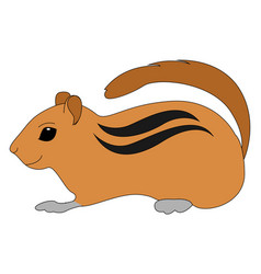 cute little gopher on white background vector image