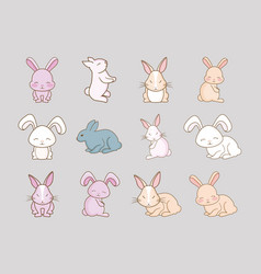 cute rabbits design vector image
