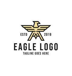 eagle logo design inspiration vector image