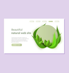 eco web site template in paper style with circle vector image