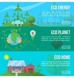Ecology Banner Set vector image