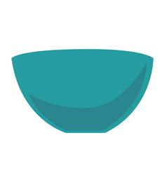 empty blue bowl cartoon vector image
