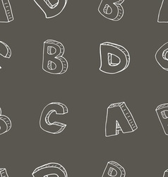 English alphabet seamless pattern sign sketch vector image