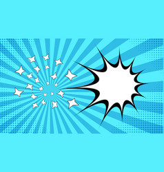 Explosive comic background vector