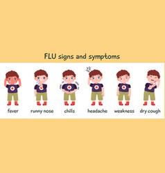Flu symptoms infographic disease cold vector