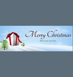 giant christmas gift banner background vector image