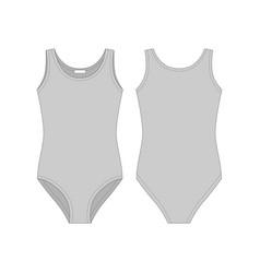 Girls gray bodies wear lady body underwear female vector