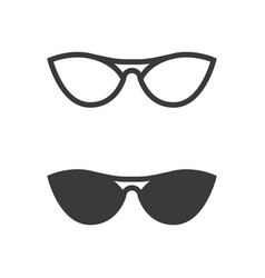 glasses symbol icon design vector image