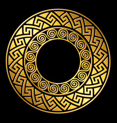 Gold greek ornament meander vector