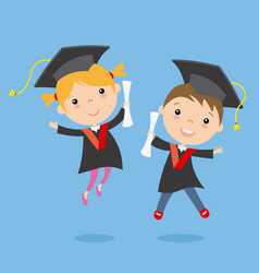 Graduation children vector