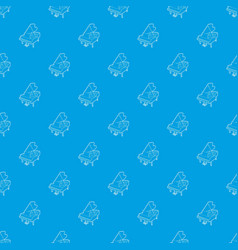 grand piano pattern seamless blue vector image